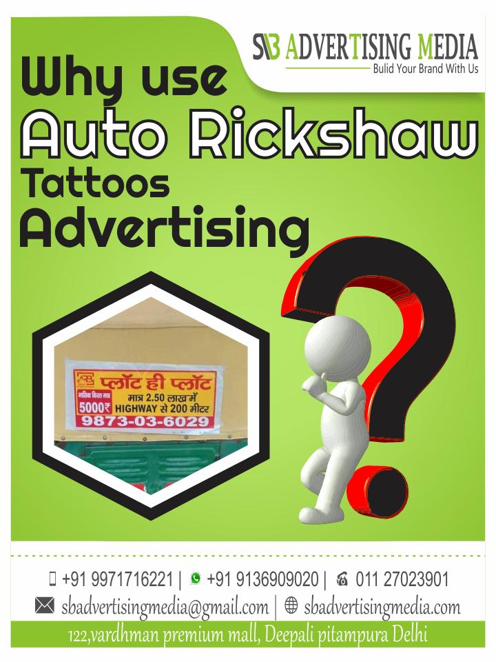 Why use Auto Rickshaw Tattoos Advertising